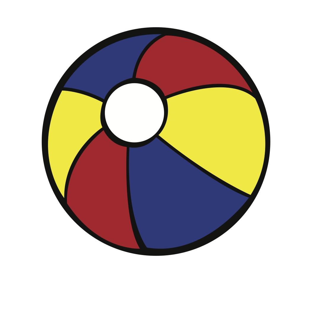 1050x1050 Beachball Black And White Beach Ball Clipart Free To Use Clip Art