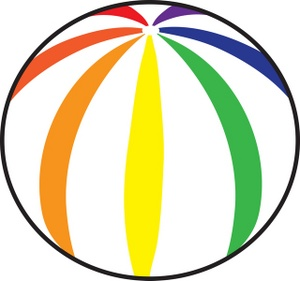 300x281 Free Beach Ball Clipart Free Clip Art Images Image 4