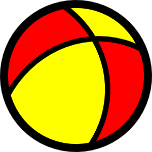 300x300 Playing Beach Ball Clipart