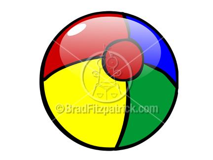 432x324 Beach Ball Clip Art