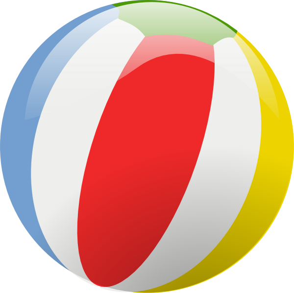 600x598 Beach Ball Clip Art