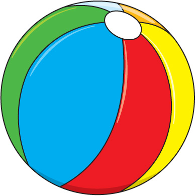 390x390 Beach Ball In Pool Clipart 2