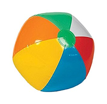355x345 Inflatable 12 Rainbow Color Beach Balls (12 Pack