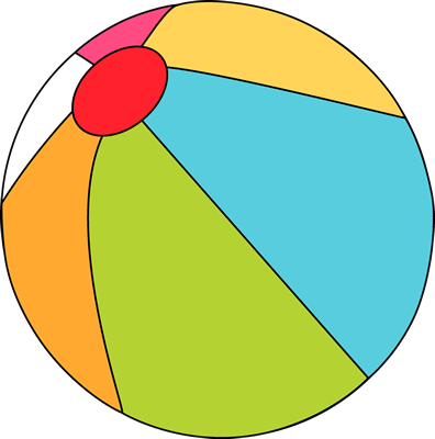 396x400 Beach Ball Clip Art
