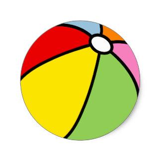 324x324 Beachball Stickers Zazzle