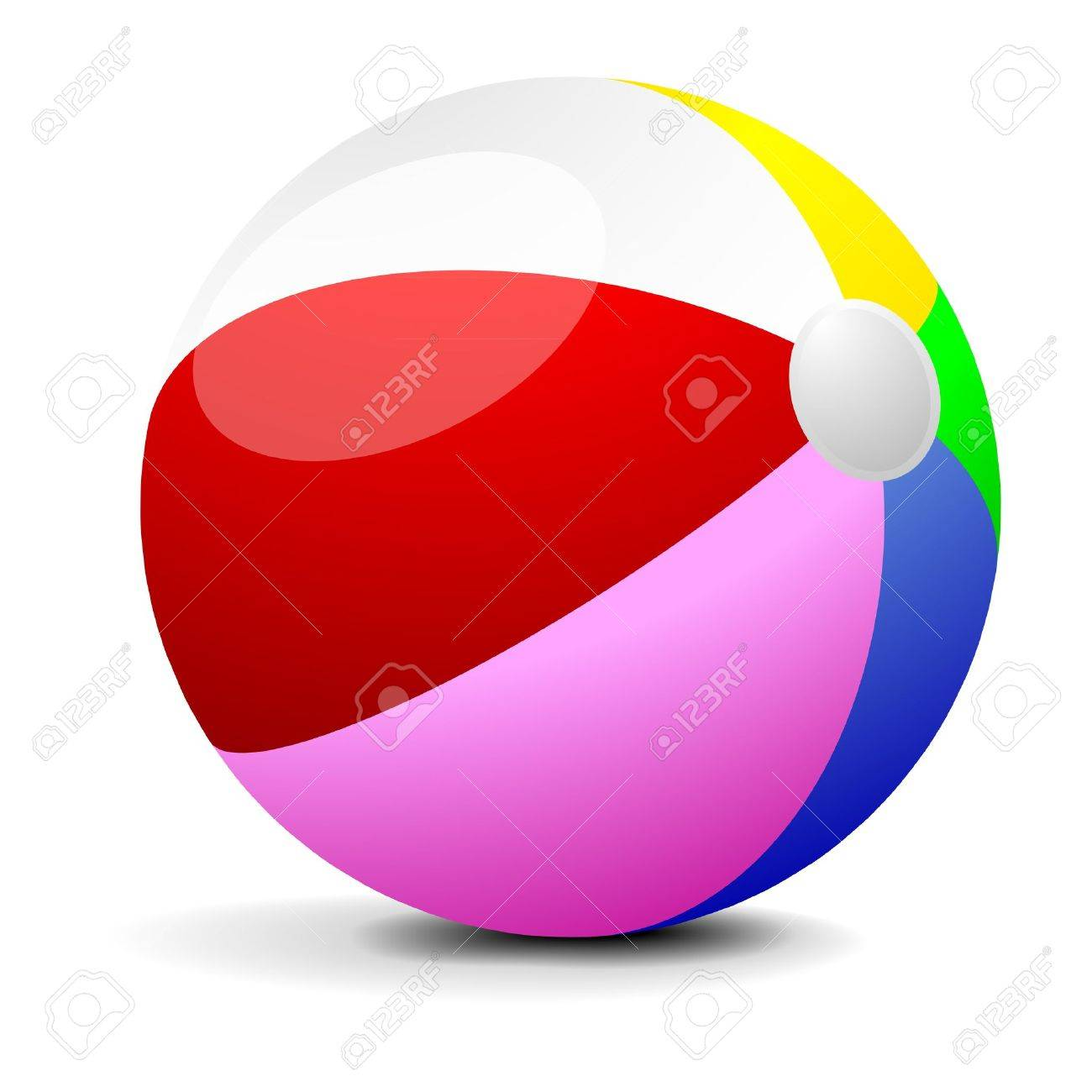 1300x1300 Illustration Of A Colorfull Beach Ball, Eps 8 Vector Royalty Free