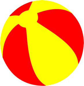 291x299 Strandball Beachball Ball Bright Red And Yellow Clip Art