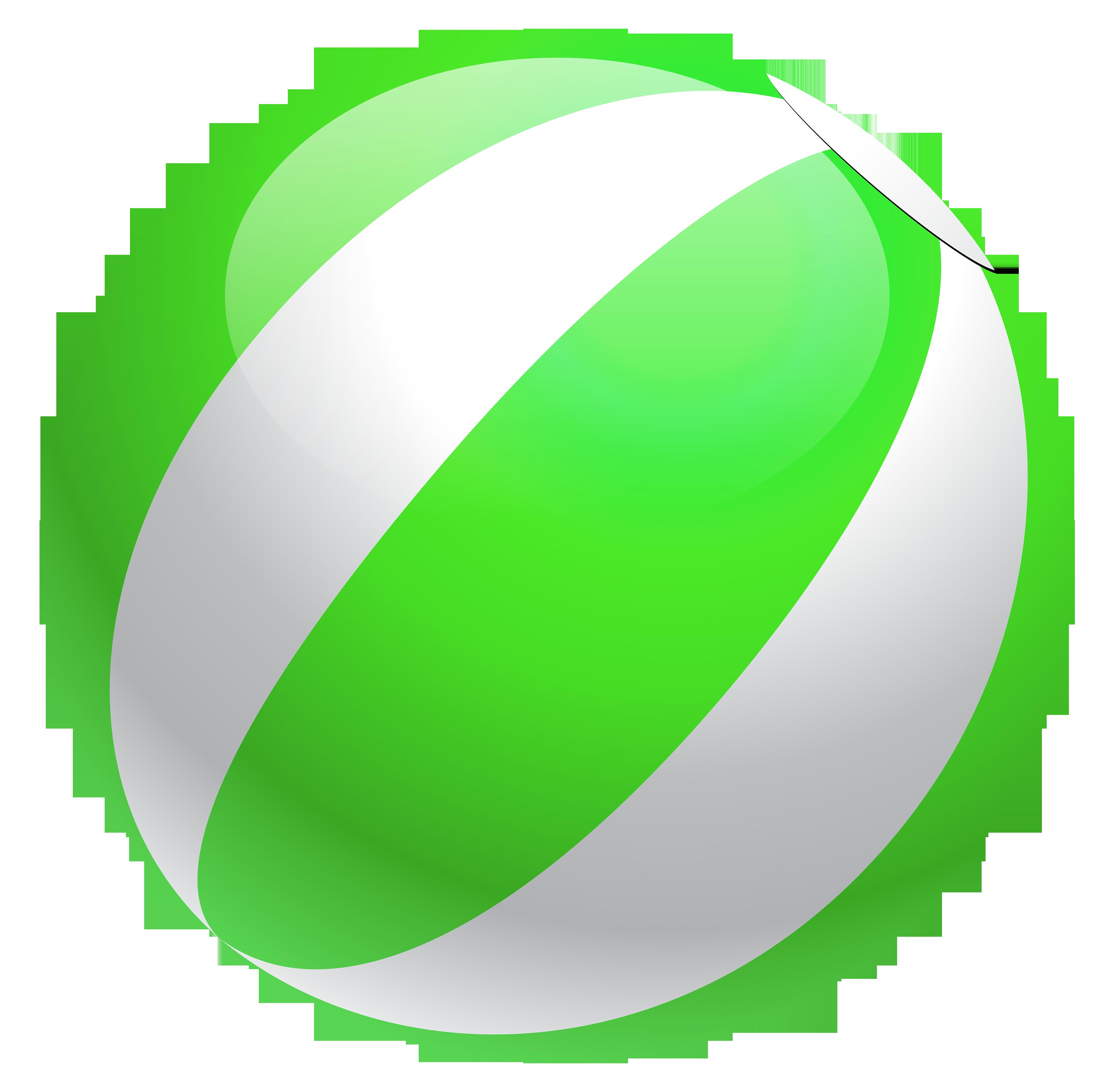 3899x3840 Transparent green beach ball clipart
