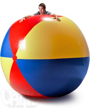 300x360 9 Foot Beach Ball Gigantic blow up beach ball.