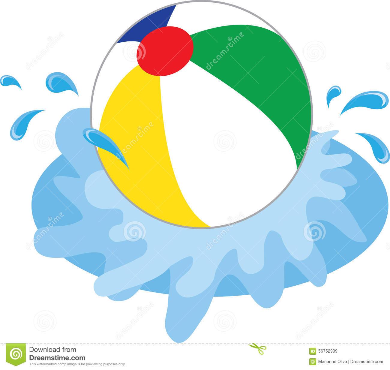 1300x1233 Beach Ball In Water Clipart