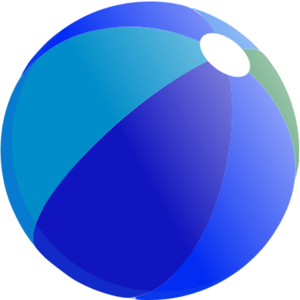 600x600 Beach ball vector clip art 3