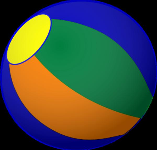 600x575 Beachball beach ball clip art vector hubprime 2