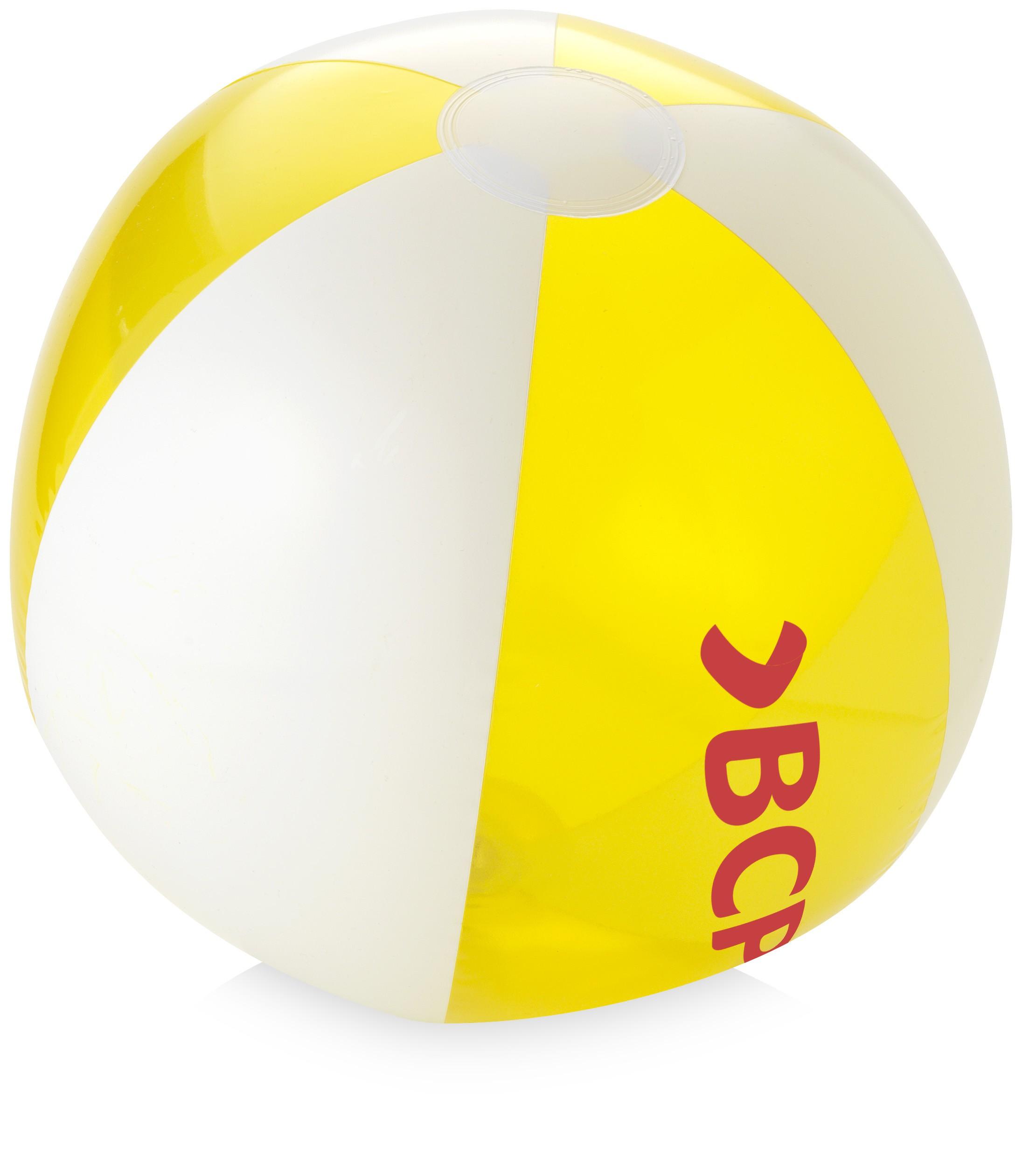 2191x2520 Bondi solidtransparent beach ball, transparent yellow (Inflatable