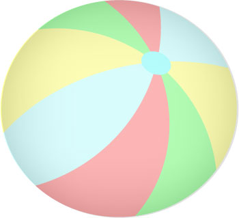 350x319 Free Beach Ball Clip Art Pictures