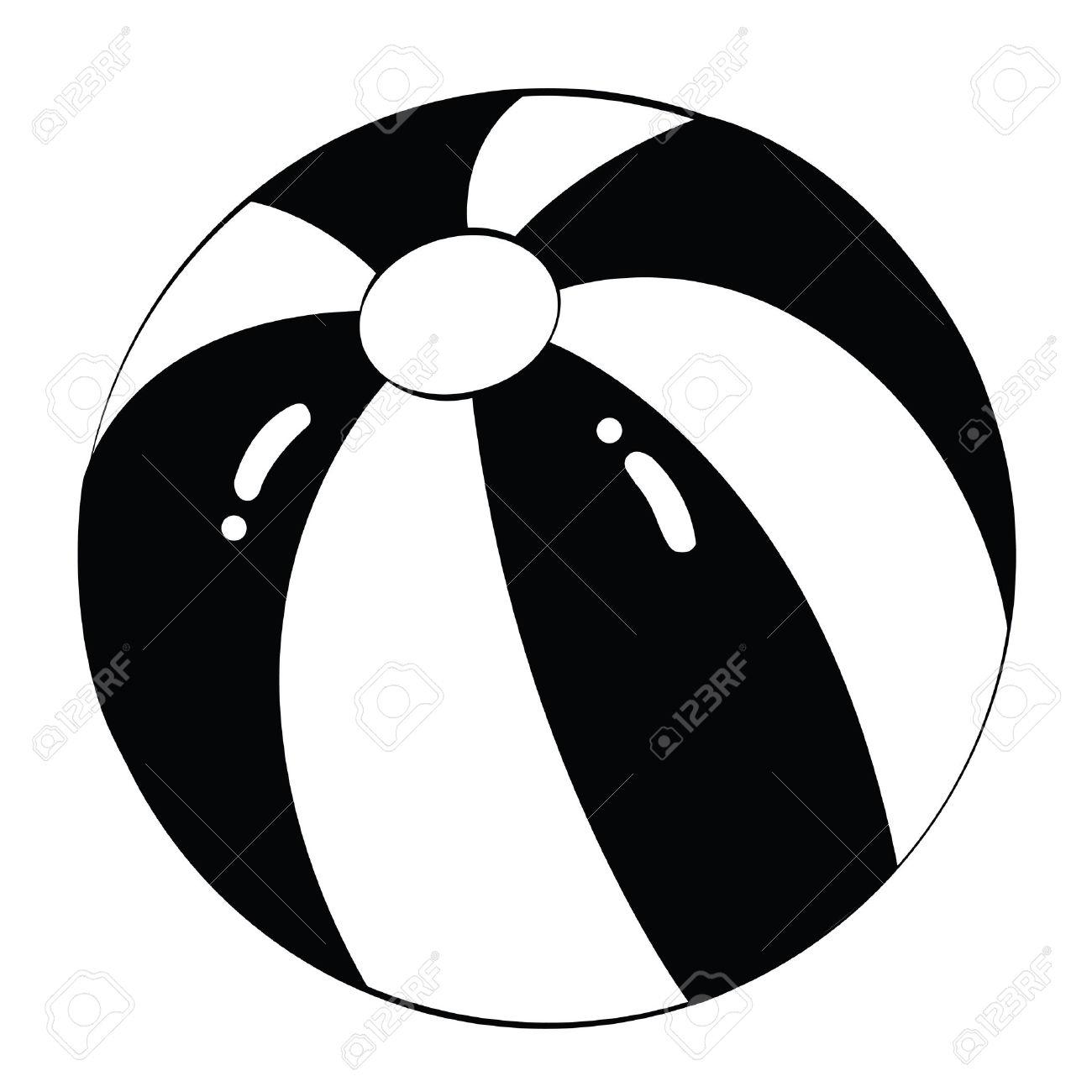 1300x1300 Beach Ball Clip Art Black and White – Cliparts