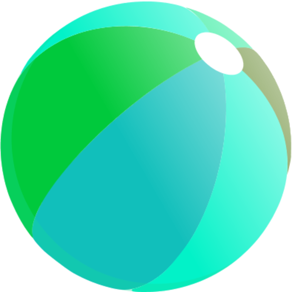 600x600 Beach Ball Vector Clip Art 4