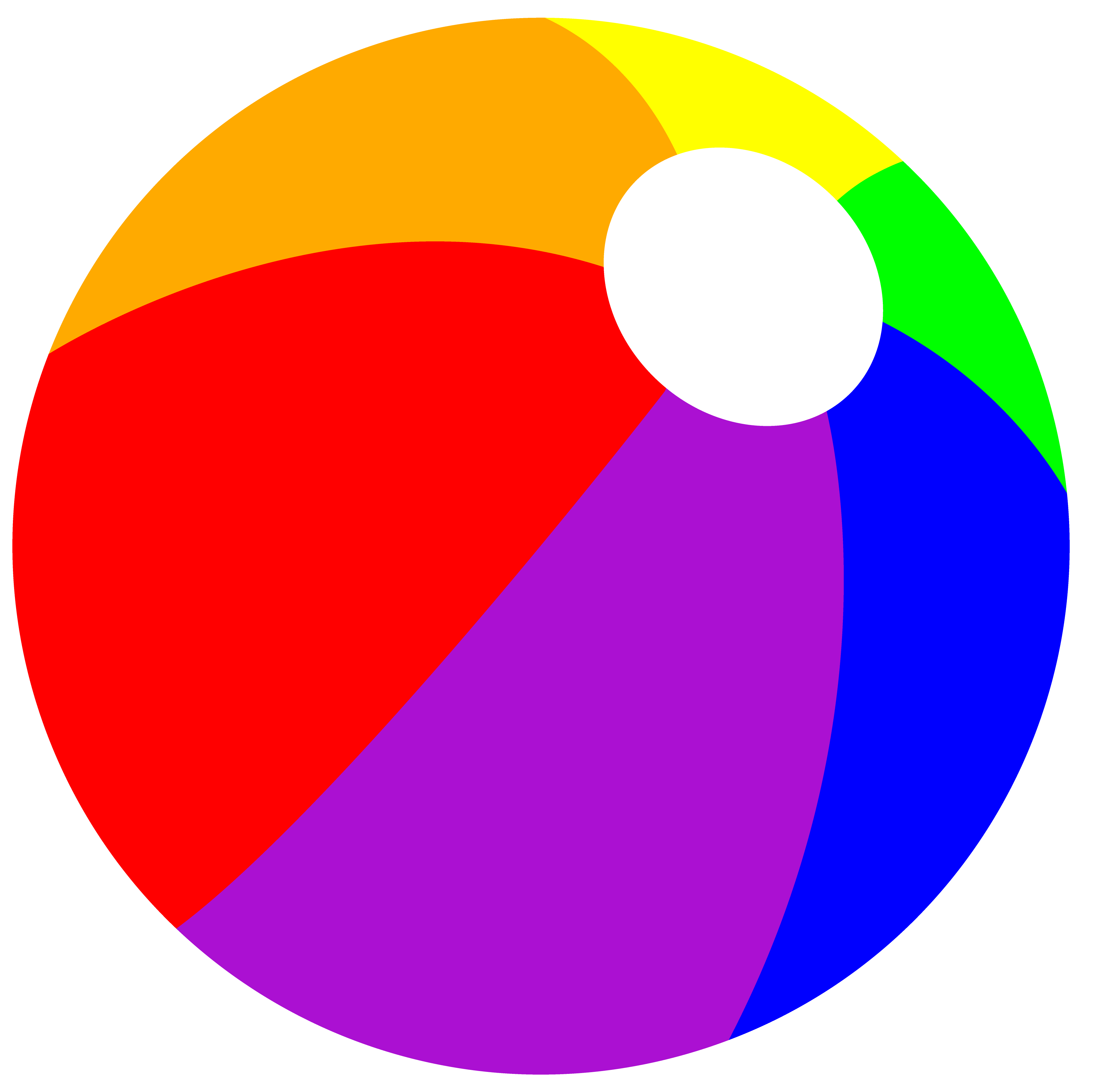 3809x3800 Clipart Beach Ball