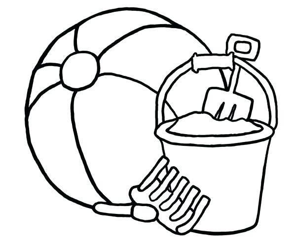 600x497 Beach Ball Coloring Pages Printable Murderthestout