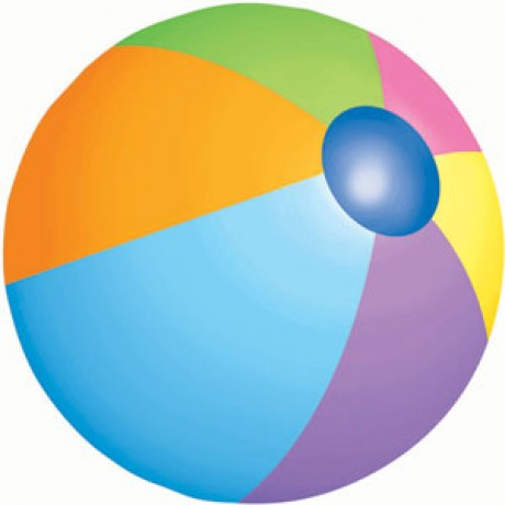460x460 Beach ball printable clipart 2
