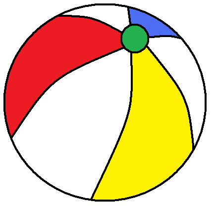 434x419 Beach ball printable clipart 3