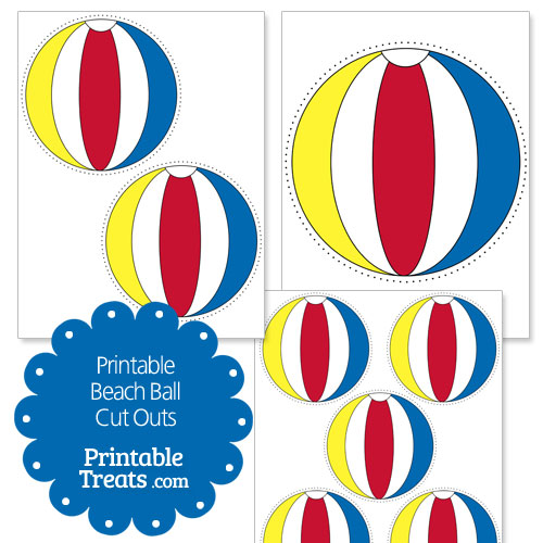 500x500 Printable Beach Ball Cut Outs — Printable