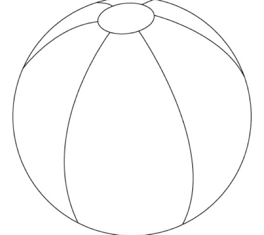 540x480 picture Beach Ball Coloring Page 85 For Seasonal Colouring Pages
