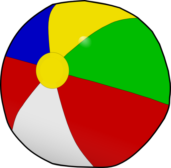 600x589 Beach Ball Clip Art