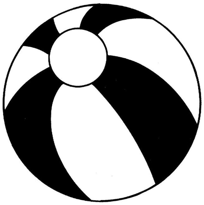 654x656 Beach Black And White Beach Ball Clip Art Black And White Clipart