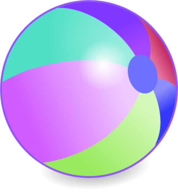600x647 Beachball Vector Clip Art