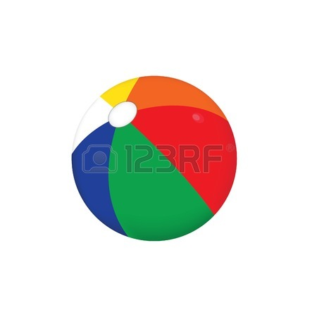 450x450 Illustration Of A Colorfull Beach Ball, Eps 8 Vector Royalty Free