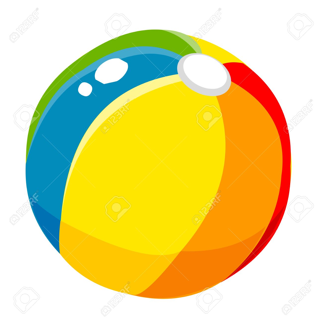 1300x1300 Props Beach Ball Cute Cartoon Royalty Free Cliparts, Vectors,