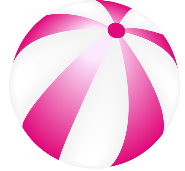 600x555 Vector Image Of A Beach Ball.
