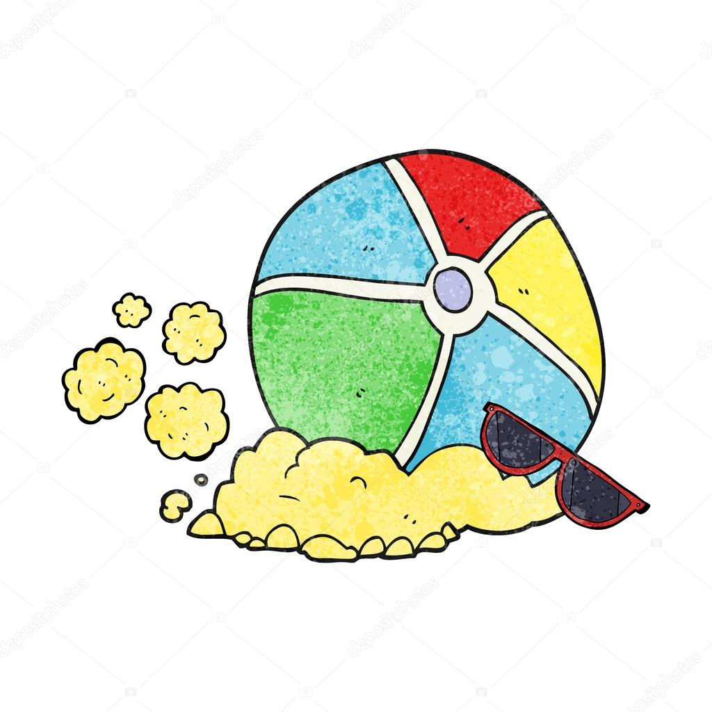 1024x1024 Textured Cartoon Beach Ball Stock Vector Lineartestpilot