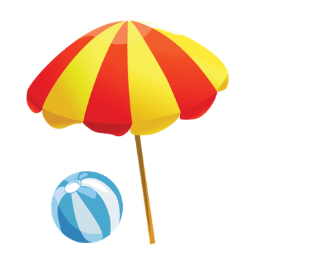 462x399 Beach clipart beach item