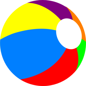 300x300 Beachball Primary Clip Art