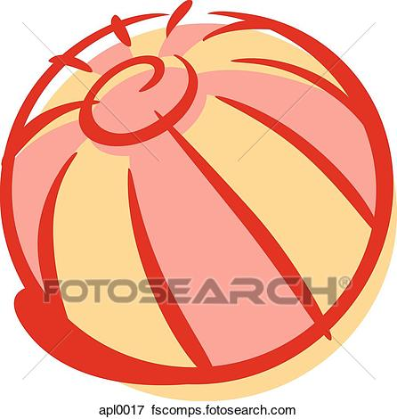 446x470 Stock Illustration of Cartoon drawing of a beach ball apl0017
