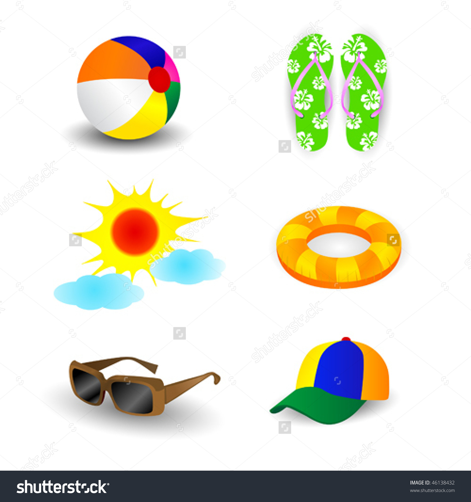 1500x1600 Sunglasses beach ball clipart, explore pictures