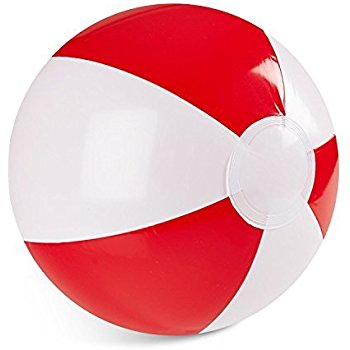 350x350 Red Beach Ball 14 (1 Dozen)