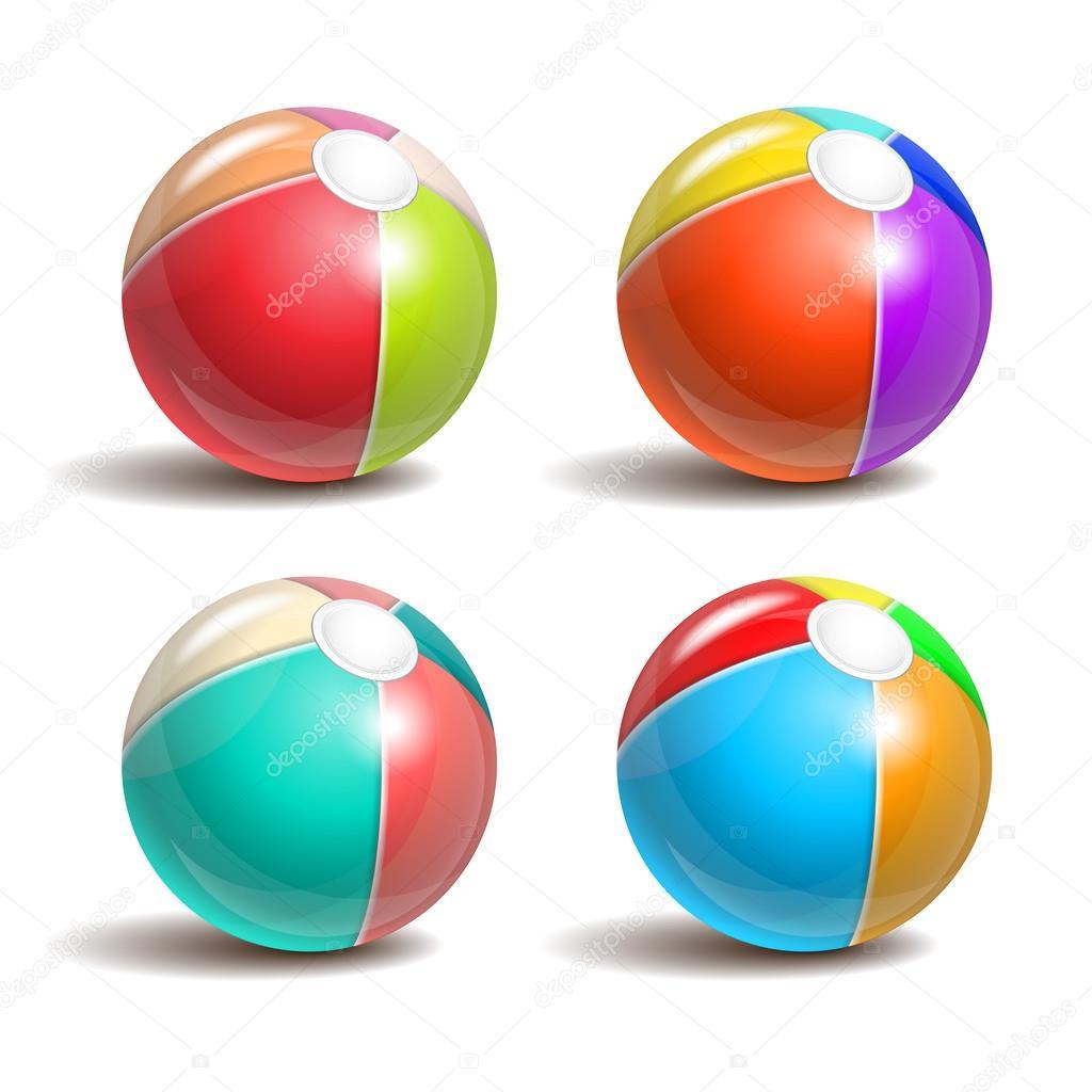 1024x1024 Beach Balls Stock Vector Tassel
