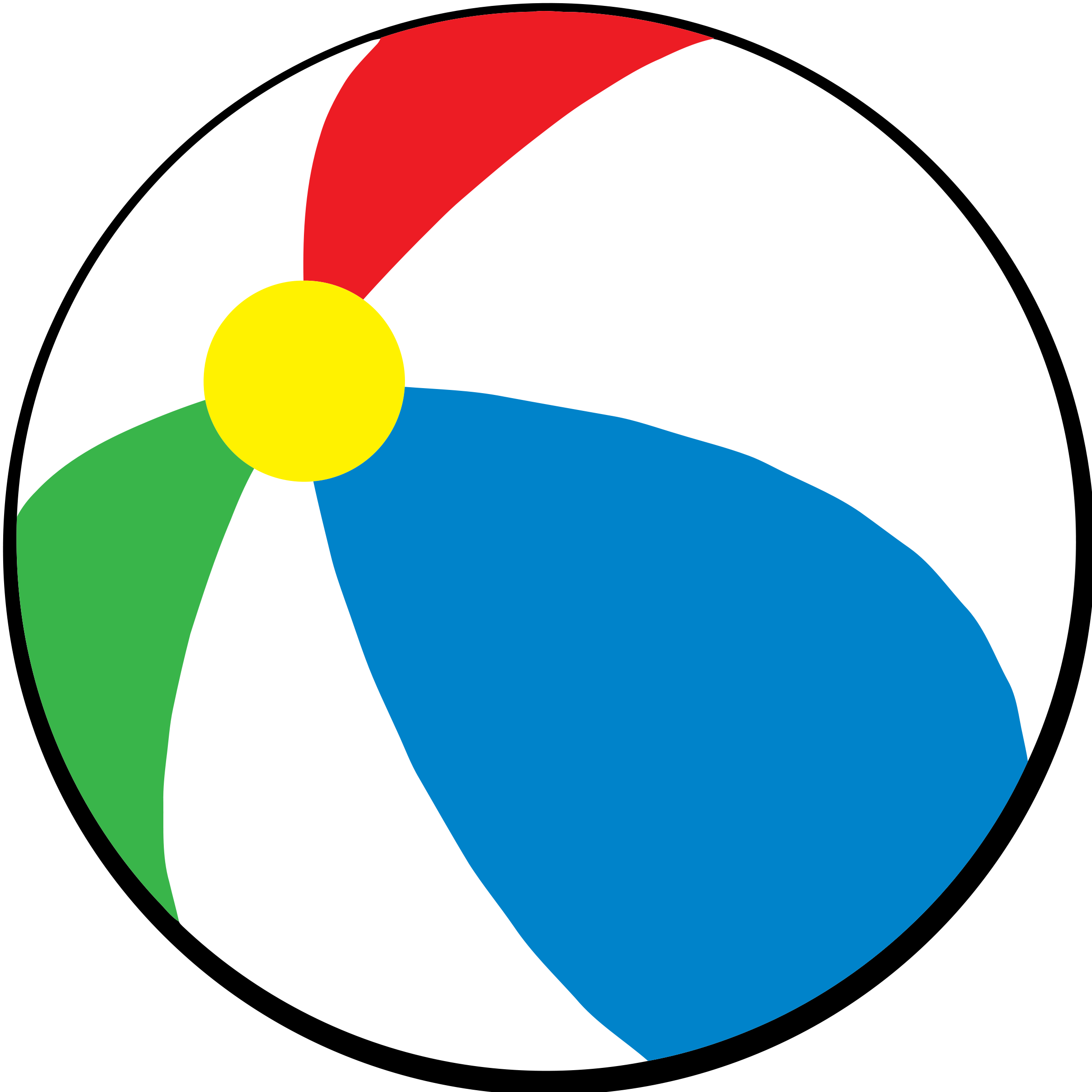 2400x2400 Beach Ball Clipart