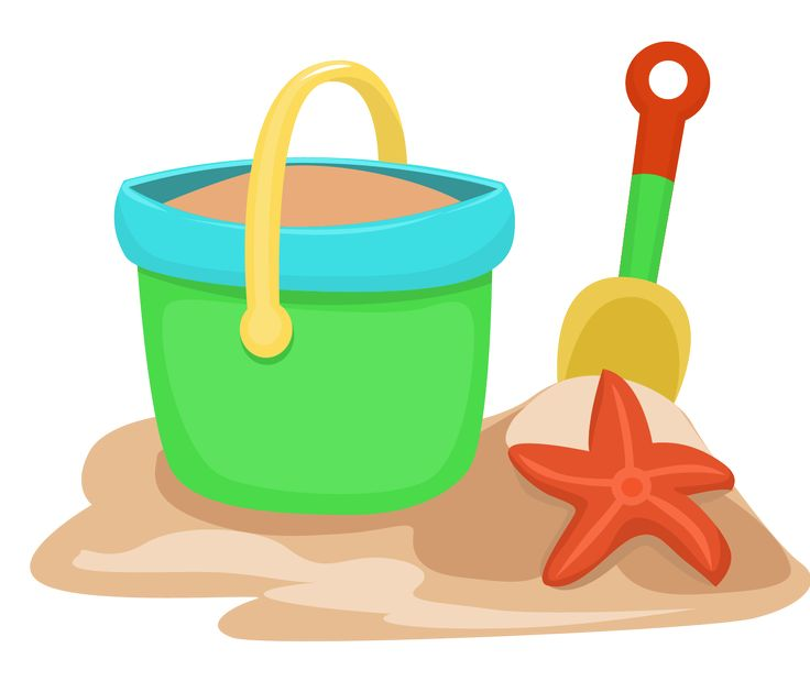 Beach Bucket Clipart