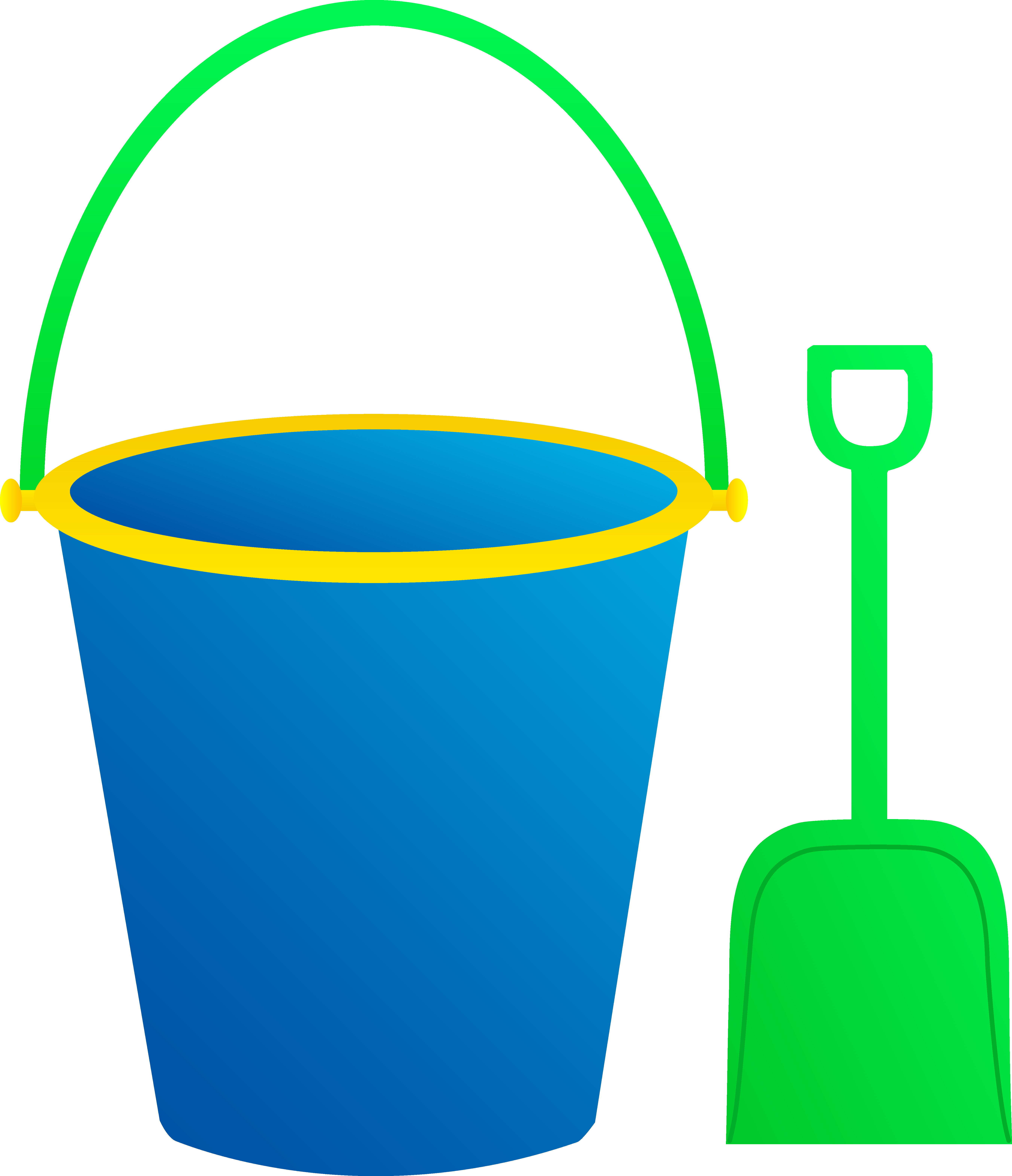 5409x6283 Blue Pail With Green Shovel