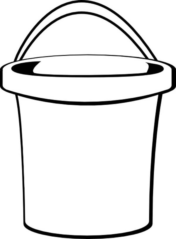 600x815 Bucket Coloring Page 554121