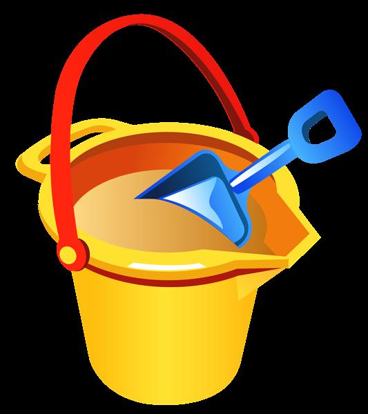 533x600 Transparent Beach Bucket And Shovel Png Clipart Summer Clip