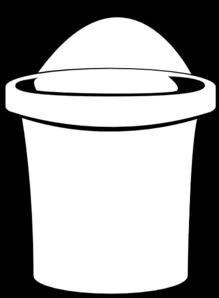 219x298 White Bucket Clip Art