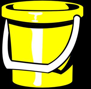 300x294 Yellow Bucket Clip Art