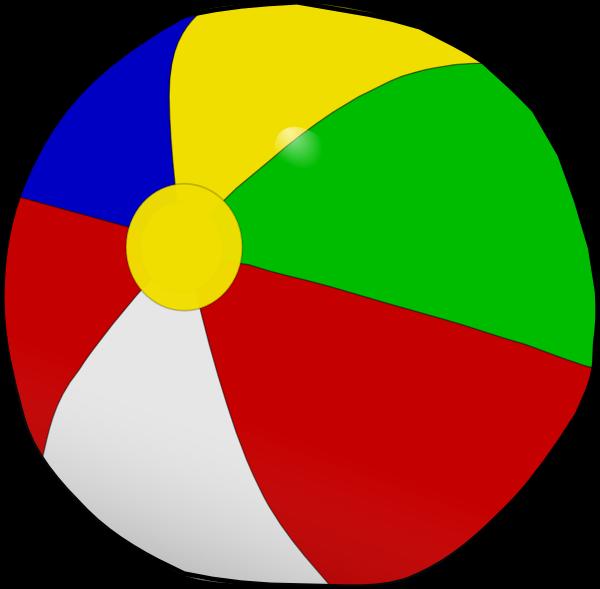 600x589 Beach Ball Clip Art
