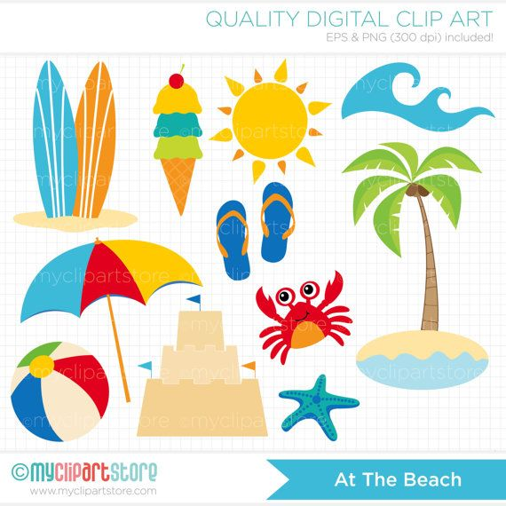 Beach Cartoon Clipart