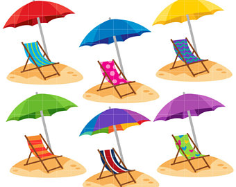 340x270 Beach Chair Clip Art Etsy