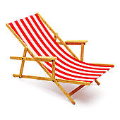 170x170 Clip Art Of Wood Beach Chair With Greek Flag K22096552